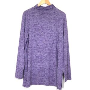 Lands' End Purple Tunic Length Turtleneck